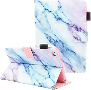 "iPad Mini Case, iPad Mini 2/3 Case, iPad Mini 4 Case, iPad Mini 5 Case, Fvimi Multi-Angle Viewing Folio Smart Leather Cover with Auto Sleep/Wake for 7.9"" Apple iPad Mini 1/2/3/4/5, Marble"