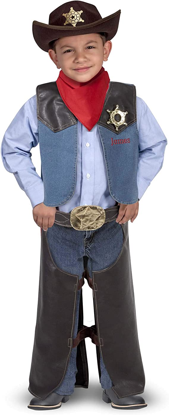Melissa & Doug- Cowboy Role Play Costume Set Conjunto de Disfraces ...