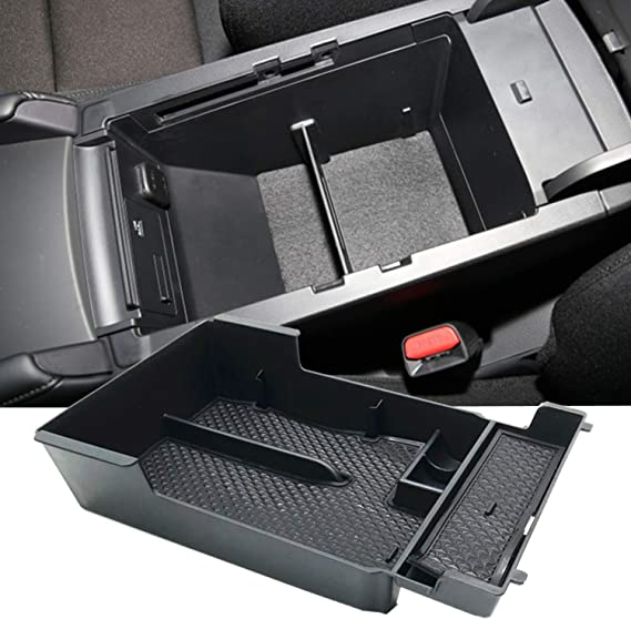 YIWANG Car Center Console Armrest Storage Box Organizer Tray with Partition Panel for Mazda MX-5 RF Miata 2015-2019