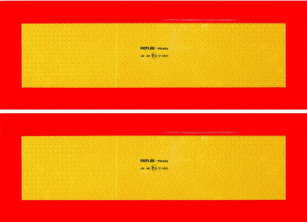 CORA 001890188 - Placas Reflectantes de vehí culo Largo (homologados, 2 Unidades) CO.RA. SPA