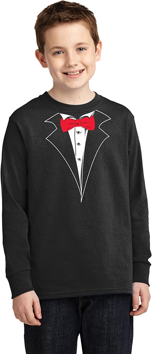 Tuxedo With Red Bow Tie Funny Toddler//Kids Long sleeve T-Shirt Gift Idea