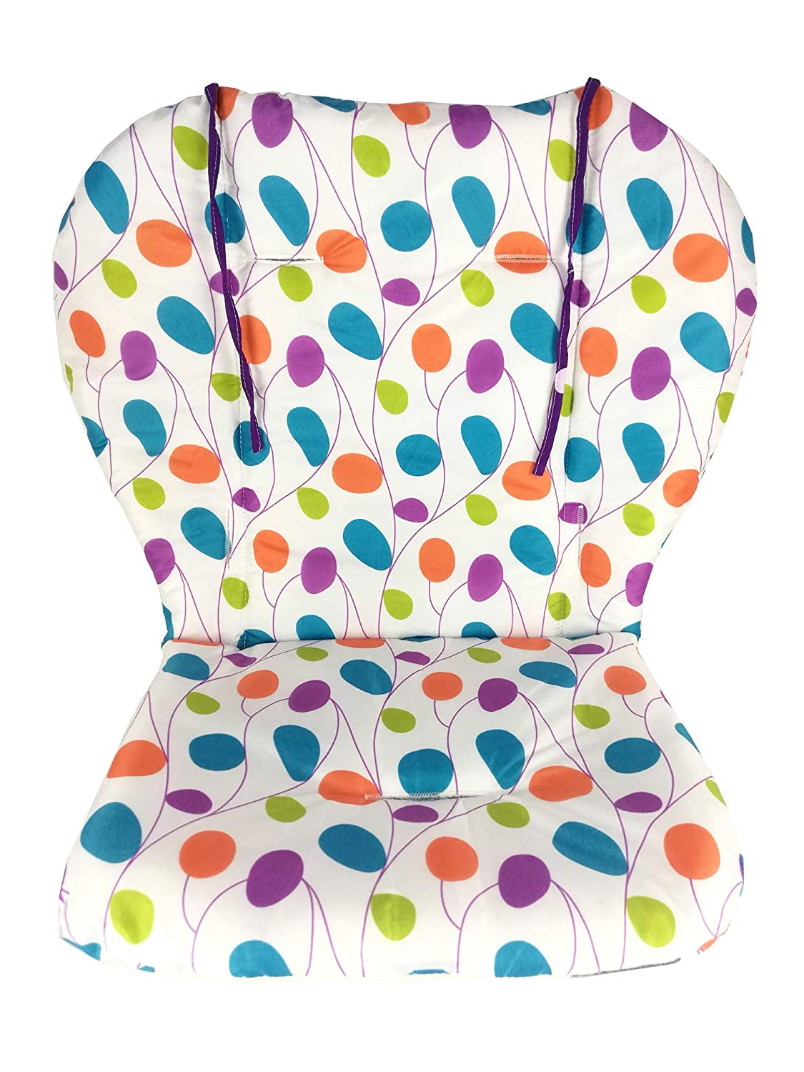High Chair Pad, Amcho Baby Stroller/Highchair / Car Seat Cushion Protective Film Breathable high Chair pad (Colored Leaves)