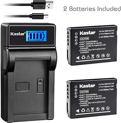 Camera battery charger DMW-BCG10E /& USB CABLE DMC-ZX1 ZX3 3D1 CAMERAS