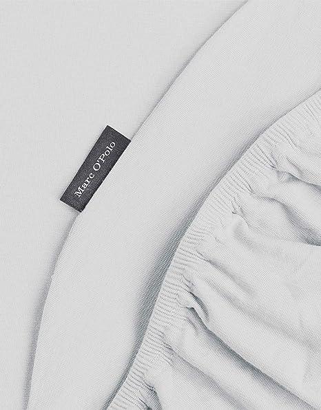 Marc OPolo Jersey - Sábana Bajera (97 % algodón (160 g/m2), 3 % Elastano, 180 x 200 cm), Color Plateado: Amazon.es: Hogar