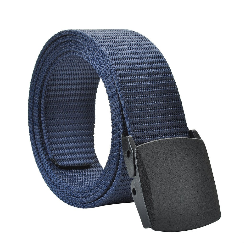Faleto Mens Military Webbing Hypoallergenic Plastic Buckle Automatic Nylon Belt with Gift Box