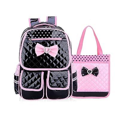 Kid Child Schoolbag Cute Girls Princess Style Backpack Waterproof Travel Bag  Comfortable and Breathable Rucksack (Black Set)  Amazon.co.uk  Clothing 65aab87612434