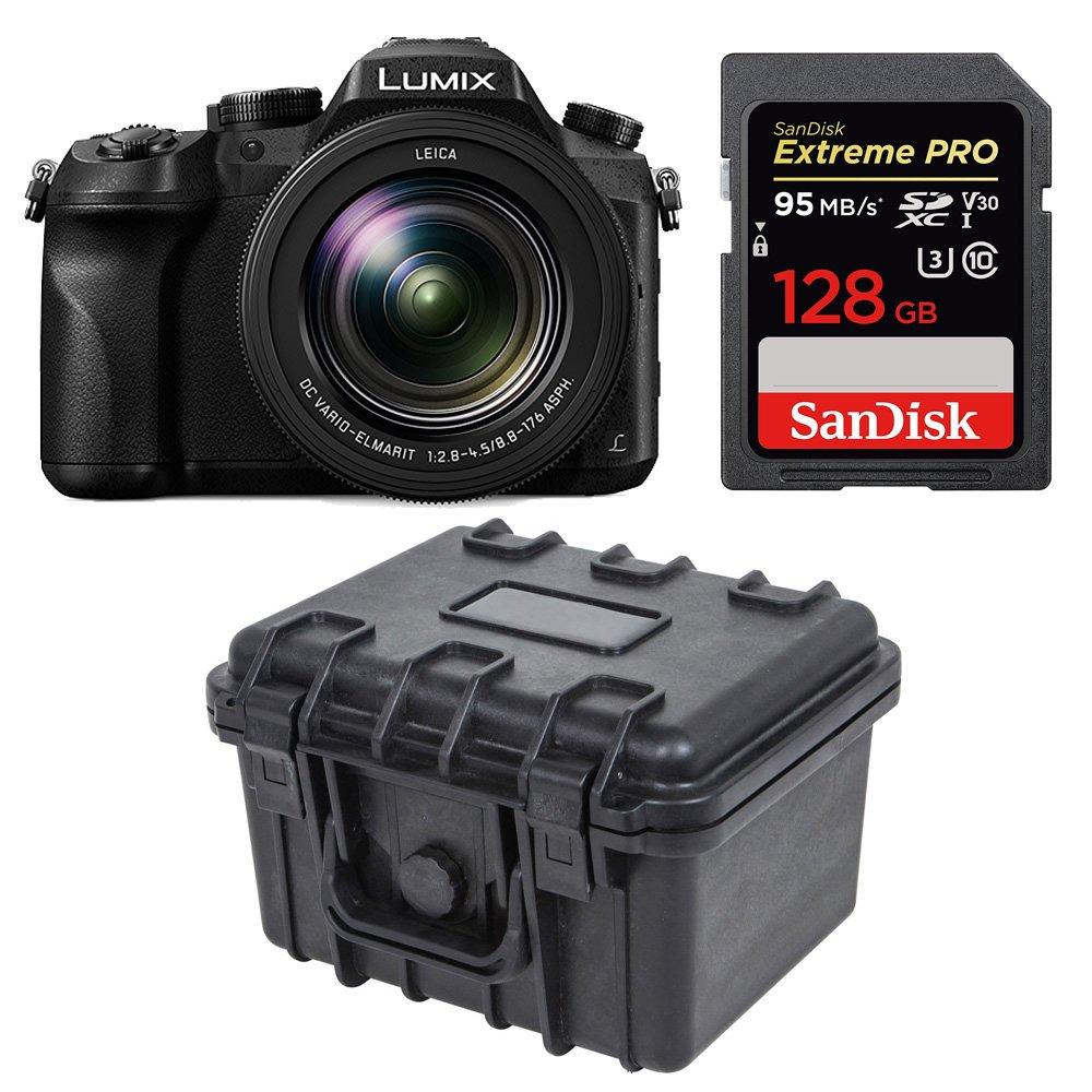 Panasonic LUMIX DMC-FZ2500 21.1 MP Camera 3 inches LCD 20X LEICA VARIO-ELMART F2.8-4.5 Lens (Black) Bundle