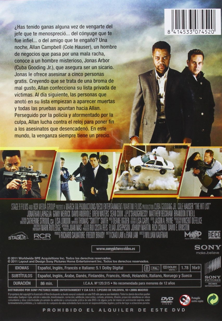Marcados para morir [DVD]: Amazon.es: C. Gooding Jr / C ...