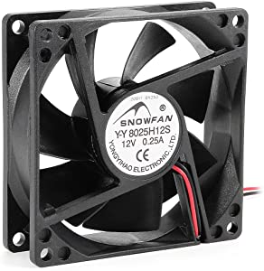 uxcell 80mm x 80mm x 25mm 12V DC Cooling Fan Long Life Sleeve Bearing Computer Case Fan
