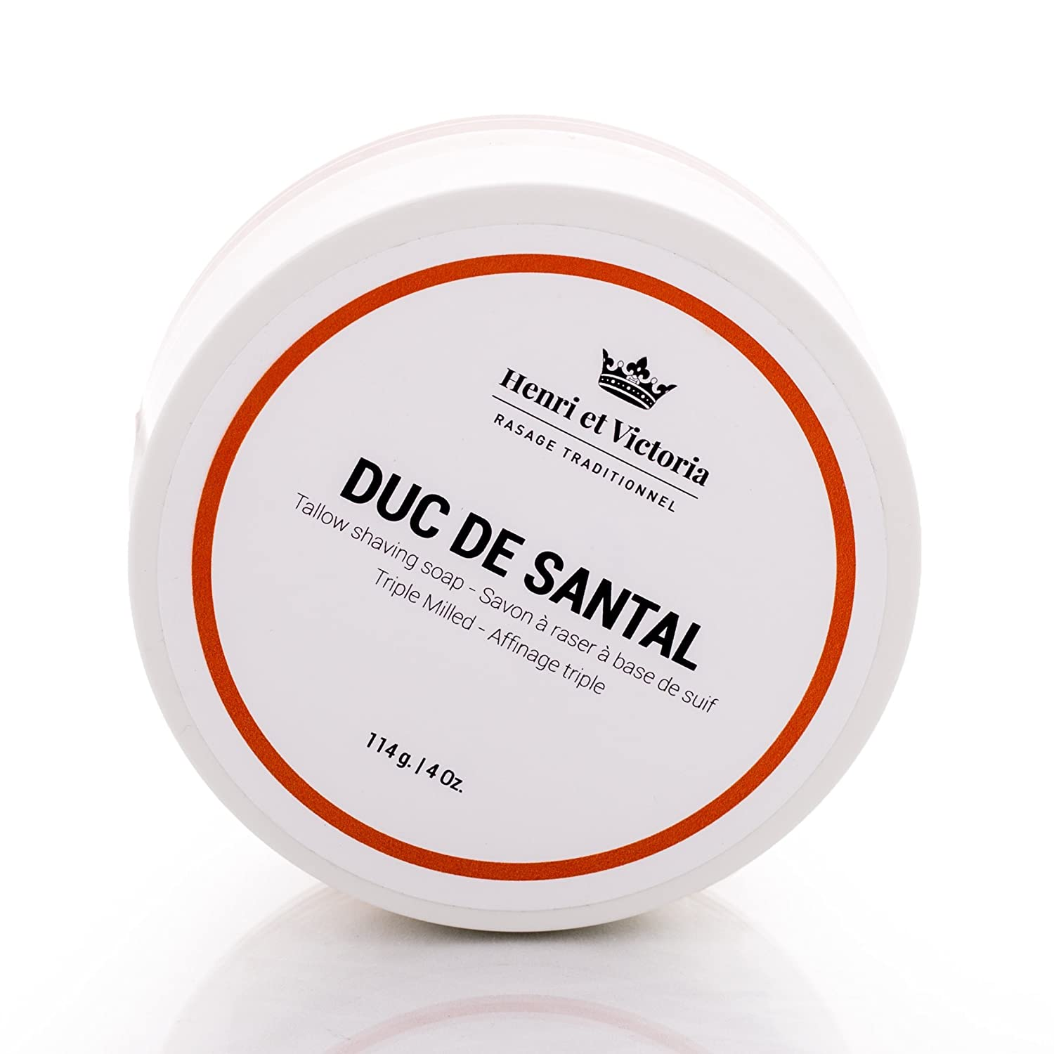 Duc de Santal Tallow Triple Milled Shaving Soap For Men | Hand Made in CANADA by Henri et Victoria |Moisturizing, Ultra Glide, Cushioning, Easy Lather, Prevent Razor Burn and Dry Skin | 114 g (4 oz) Henri et Victoria Inc.