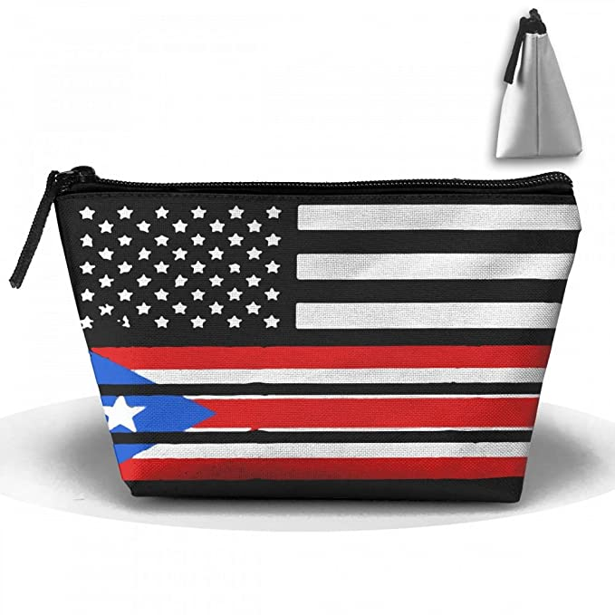 6ee57a6b76dd Amazon.com: American Flag Puerto Rico Vintage Makeup Storage Holder ...