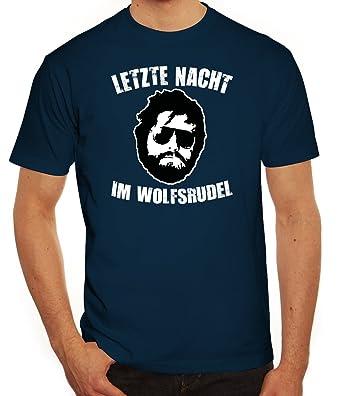 Junggesellenabschieds JGA Hangover Herren T-Shirt Letzte Nacht im Wolfsrudel,  Größe: S,