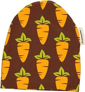 Maxomorra Baby Girlsu0027 Hat Brown Carrots Braun Orange Grün Gelb 48/50 (EU
