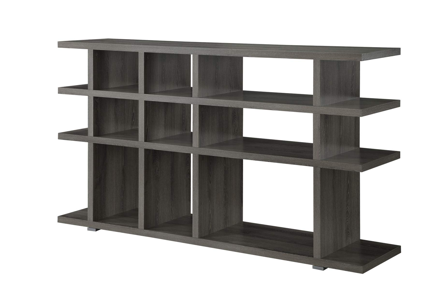 Coaster Home Furnishings 3-Tier Bookcase Weathered Grey by Coaster Home Furnishings