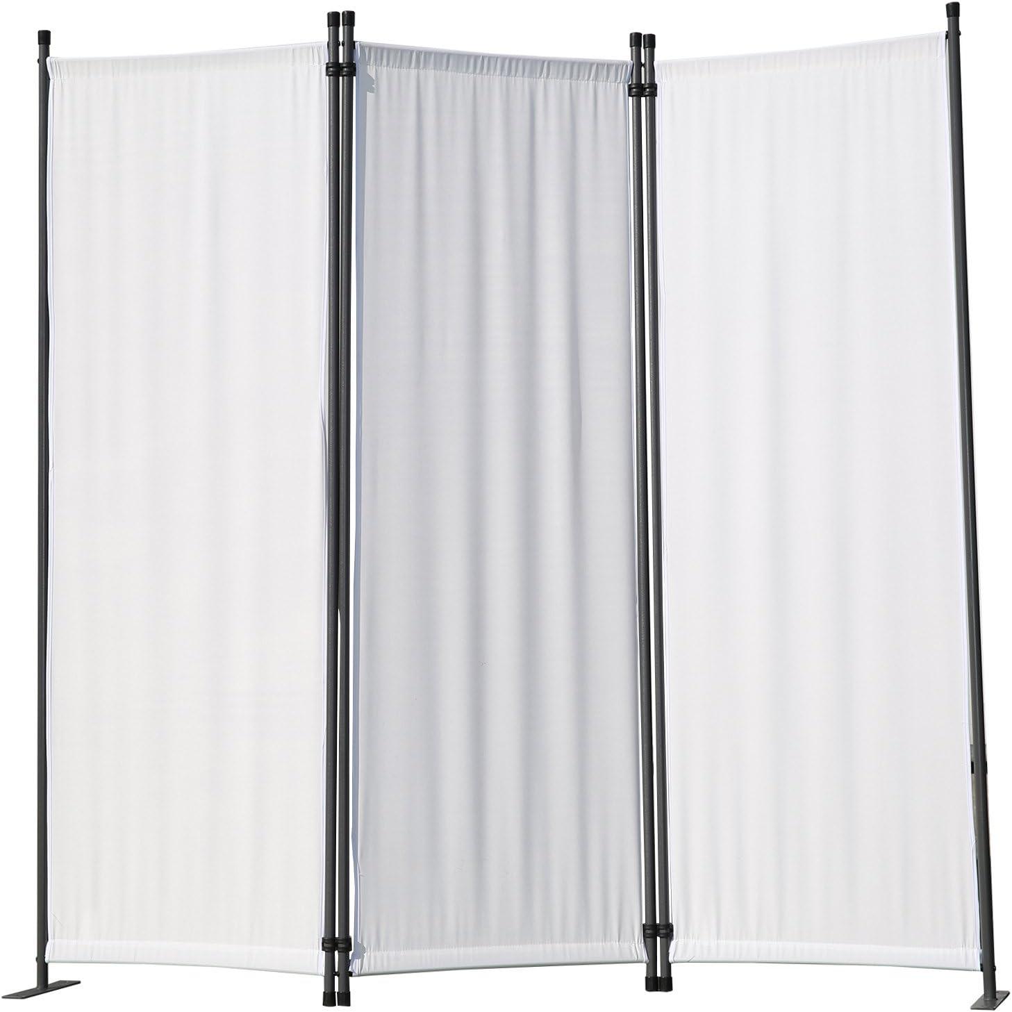 Angel Living Biombo Separador de 3 Paneles, Decoración Elegante, Separador de Ambientes Plegable, Divisor de Habitaciones, 169X165 cm (Blanco): Amazon.es: Hogar