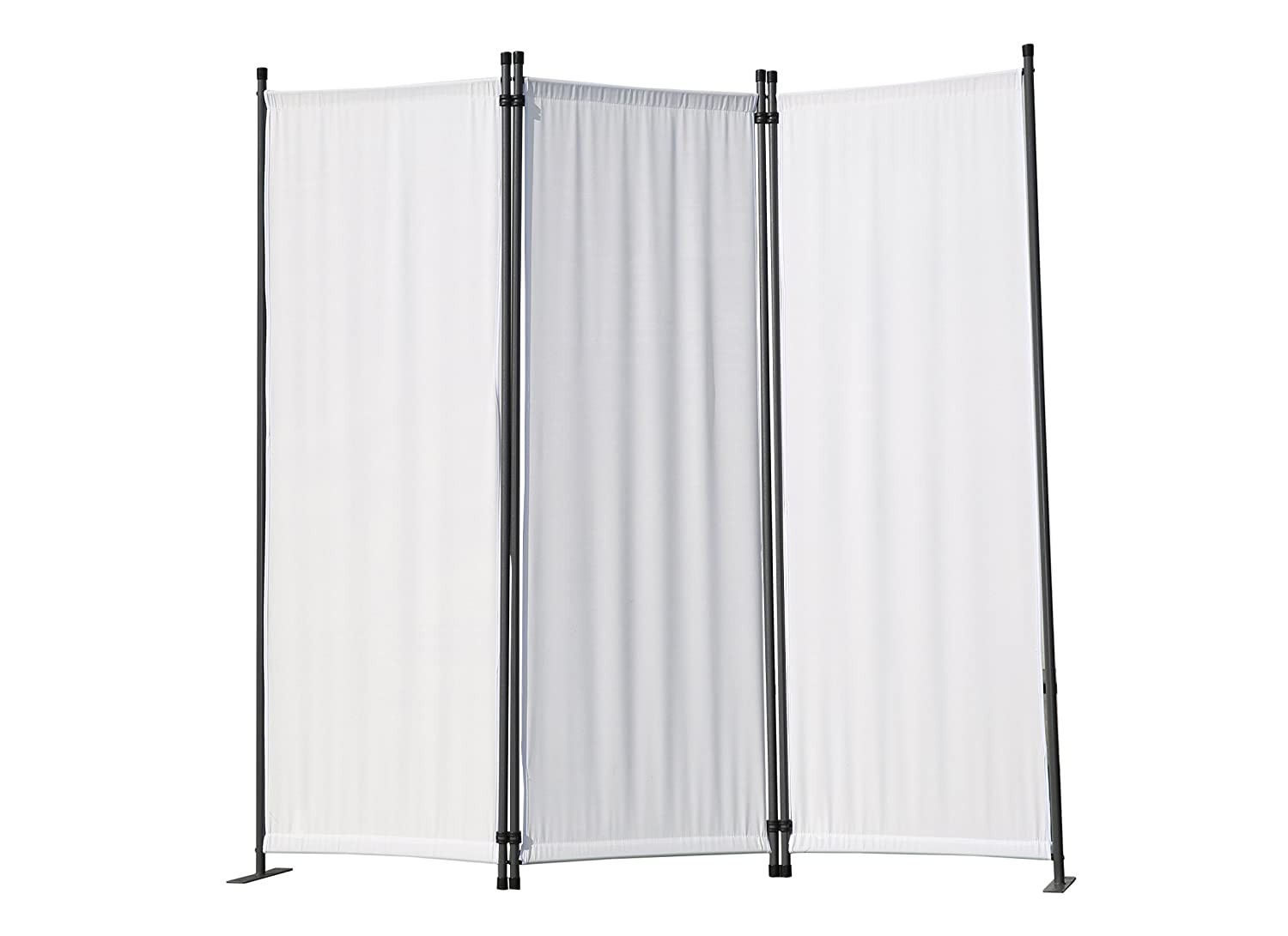 Angel Living Protective Screens Room Divider Screen Panel Folding Room Partition Wall Furniture Outdoor Screens for Patio Privacy (3-piece 169x165cm, Nature)