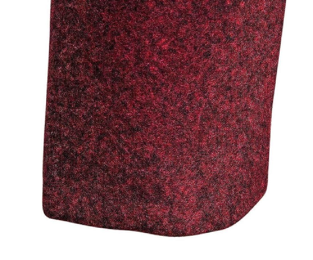 dahuo Manteau Classique à Manches Longues et col cranté pour Homme Rouge Vin