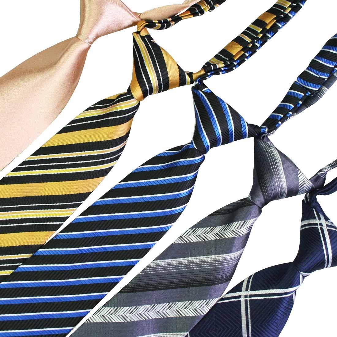 kilofly Pre-tied Adjustable Neck Strap Tie Boys Baby Necktie Value Set of 5