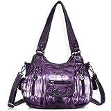 Angel Barcelo Roomy Fashion Hobo Womens Handbags Ladies Purse Satchel Shoulder Bags Tote Washed Leather Bag