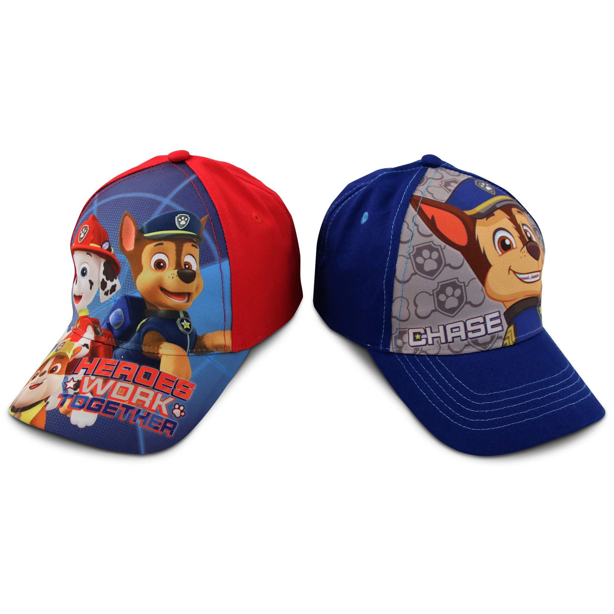 Paw Patrol Preschooler and Toddler Baseball hat, Pack of 2 hats for boys Ages 2-7 | Kids Baseball Cap by Nickelodeon