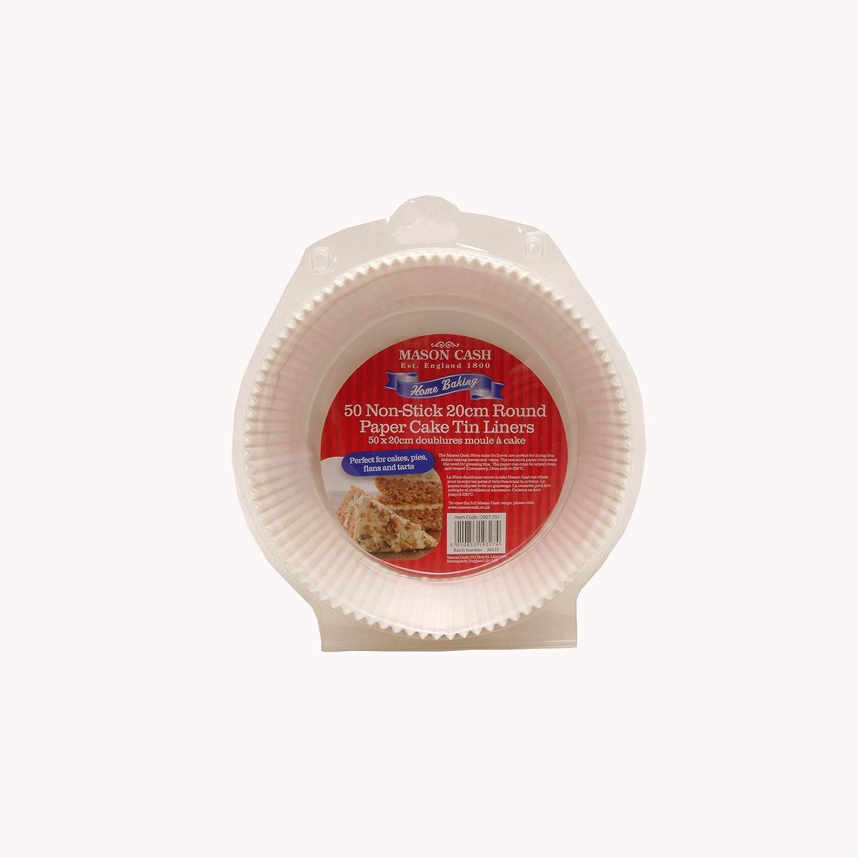 Mason Cash 20 cm Cake Liners, Set of 50, White Rayware 2007.701