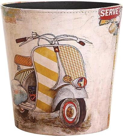 LVPY Papelera en PU de Vintage, 10 litros, Impermeable, hogar ...