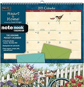 2021 Heart & Home NoteNook Pocket Wall Calendar