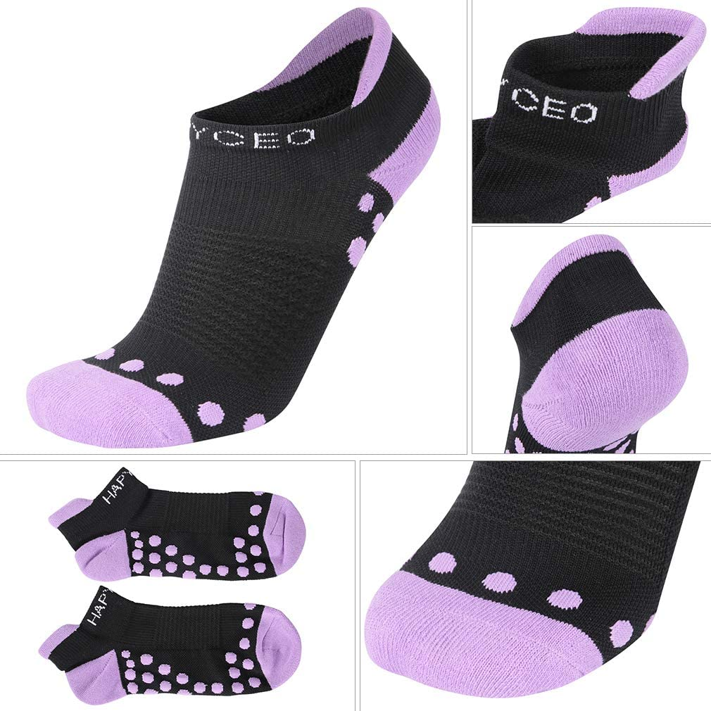 HAPYCEO Mens Padded Tab Performance Short Fit Running Ankle Socks