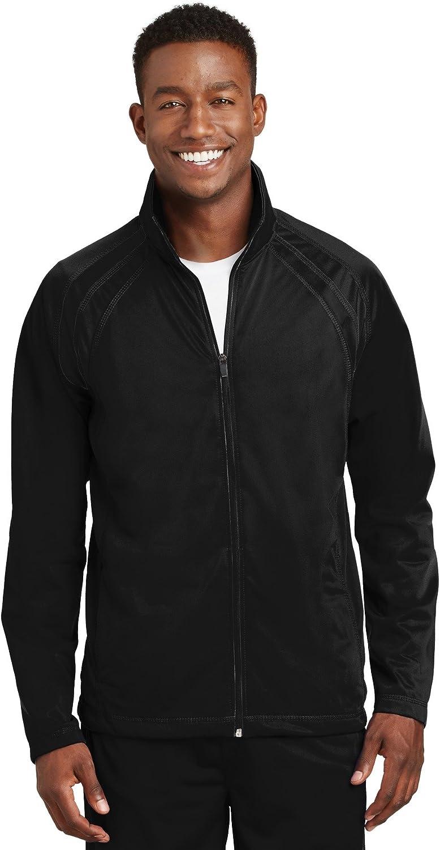 SPORT-TEK Men's Tricot Track Jacket at  Men's Clothing store