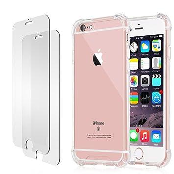 Funda iPhone 6s Plus 6 Plus Protector de Pantalla, E-Unicorn Funda Apple iPhone 6s Plus 6 Plus Silicona Carcasas Transparente Diseño TPU Gel Goma ...
