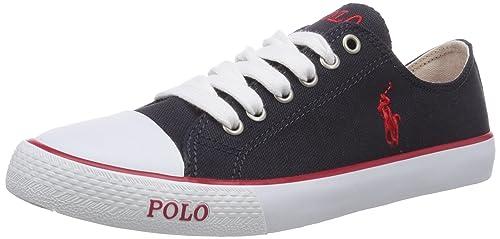 Polo Ralph Lauren Carson - zapatilla deportiva de lona niño, color azul, talla 39: Amazon.es: Zapatos y complementos