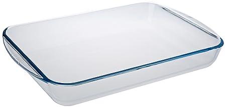 Pyrex Classic Vidrio - Fuente rectangular para horno, 40 x 27 cm ...