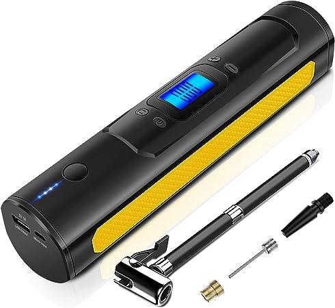 Aokbon Luftpumpen 150psi Intelligent Luftkompressor Tragbarer Kompressor Elektronisch Mit Lcd Bildschirm Für Auto Motorrad Ball Gelb Auto