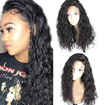 Freyja Glueless Lace Front Wigs Long Natural Curly Wave Realistic Looking  Synthetic Lace Front Wig Natural c918bc94aa