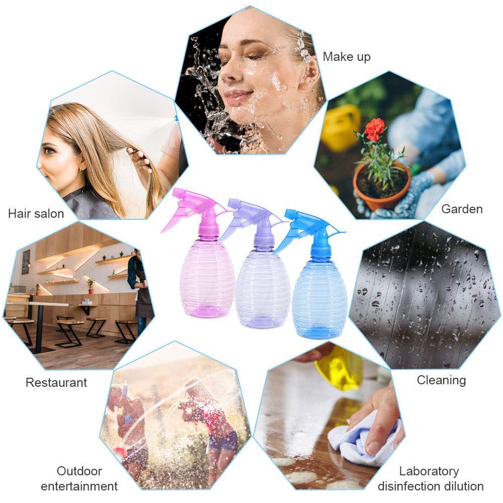 RMENOOR 3pcs Botellas de Spray Botella Spray plastico Botellas de Spray vac/ías de pl/ástico Botella de Spray de 400 ml Pulverizador de Agua Transparante Botella de Aerosol Color al Azar