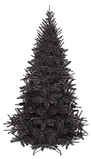 Weihnachtsbaum Schwarz.Gartenpirat Künstlicher Weihnachtsbaum Schwarz 1 85 M Tannenbaum Modell Bristlecone Black