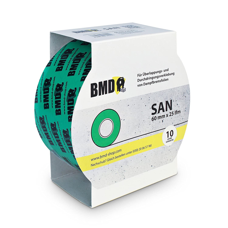 zur Verklebung von Dampfsperrfolien BMD San 10x Rol 60mm x 25lfm Dampfbremsfolien