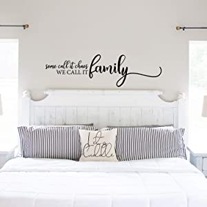 My Vinyl Story - Family Wall Decals for Living Room Decor Family Wall Decor Wall Stickers Decorations Home Art Bedroom Love Decals Quotes Word (Some Call It Chaos We Call It Family)