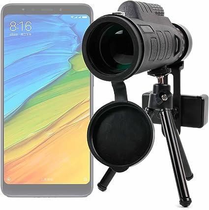 DURAGADGET Monóculo, Zoom, Objetivo, Lente, telescopio para Smartphone Xiaomi Redmi 5, Xiaomi Redmi 5 Plus. ¡Trípode + Funda + Adaptador + Gamuza + Correa + brújula incluidos!: Amazon.es: Electrónica
