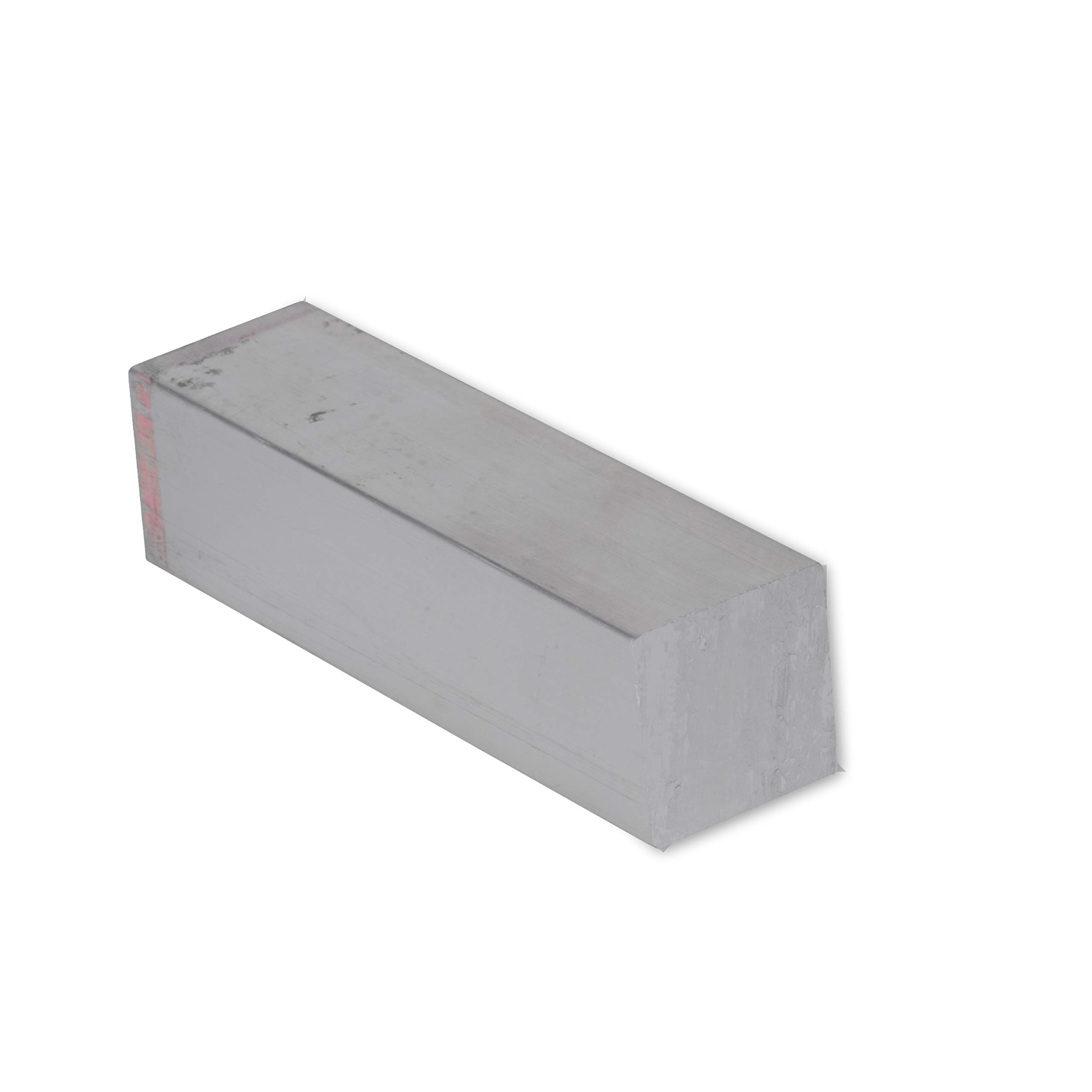 "1/2"" X 1/2"" Stainless Steel Square Bar, 304 General Purpose Plate, 8"" Length, Mill Stock, 0.5 inch Thick"