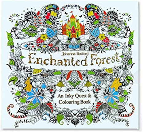 Amazon.com: Adult Coloring Book, Stress Relieving Designs Mandalas / Lost  Ocean / Time Travel (Enchanted Forest): Home & Kitchen
