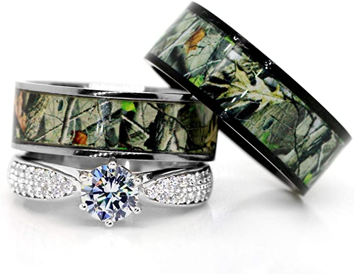 Camouflage Wedding Rings For Men