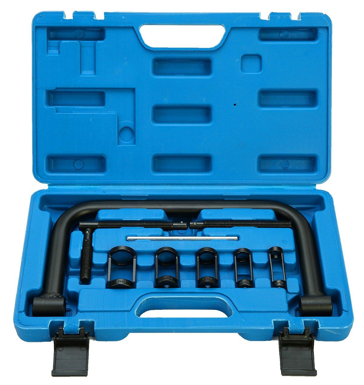 FreeTec 5 in 1 10PCS Auto Valve Spring Compressor Tool Kit Set For Cars Motorbikes