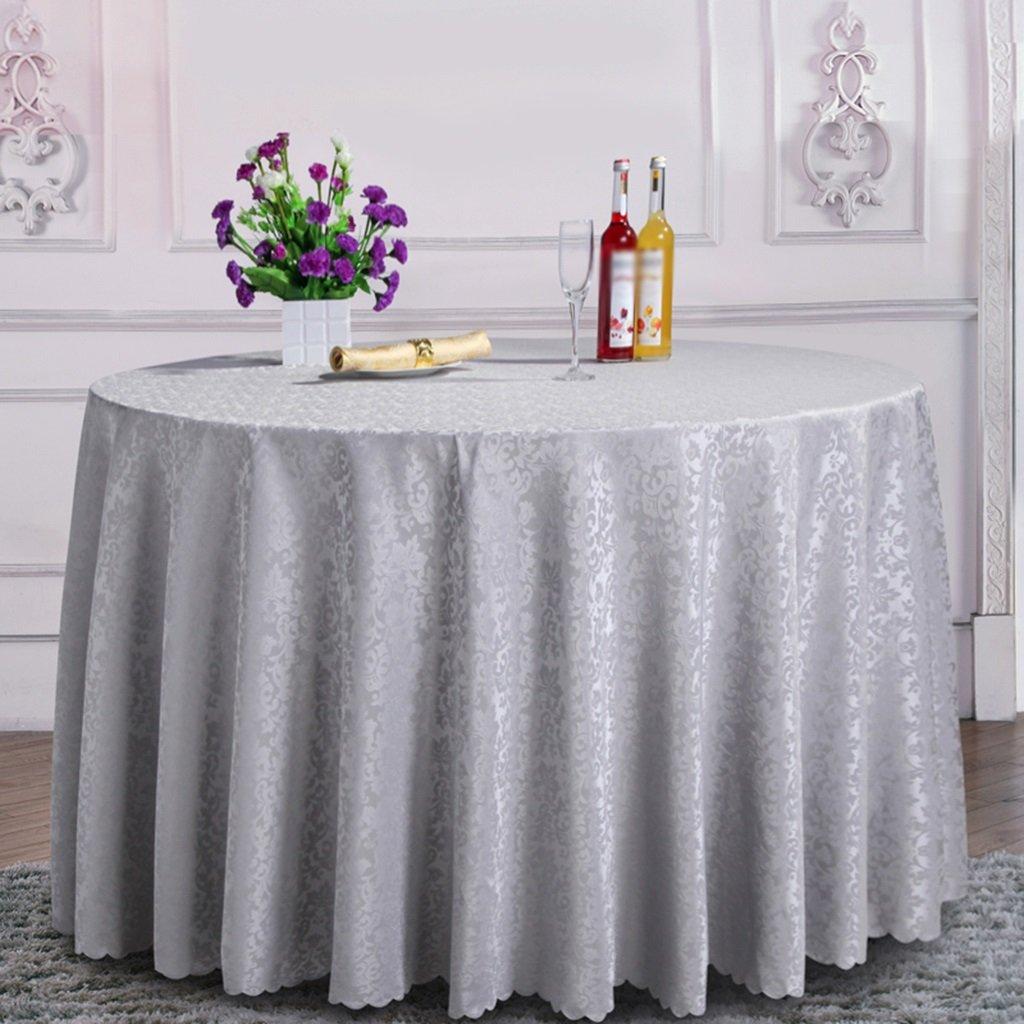 Hotel Round Tablecloth Square Square Square Tischtuch Royal Blau für Restaurant Dining Table/Couchtisch / Bankettausstellung (Farbe : B, größe : Round-200cm) 557468