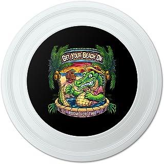graphique et plus avant la plage Gator Tropical Tiki Bar fantaisie 22,9cm Flying Disc 9cm Flying Disc Graphics and More
