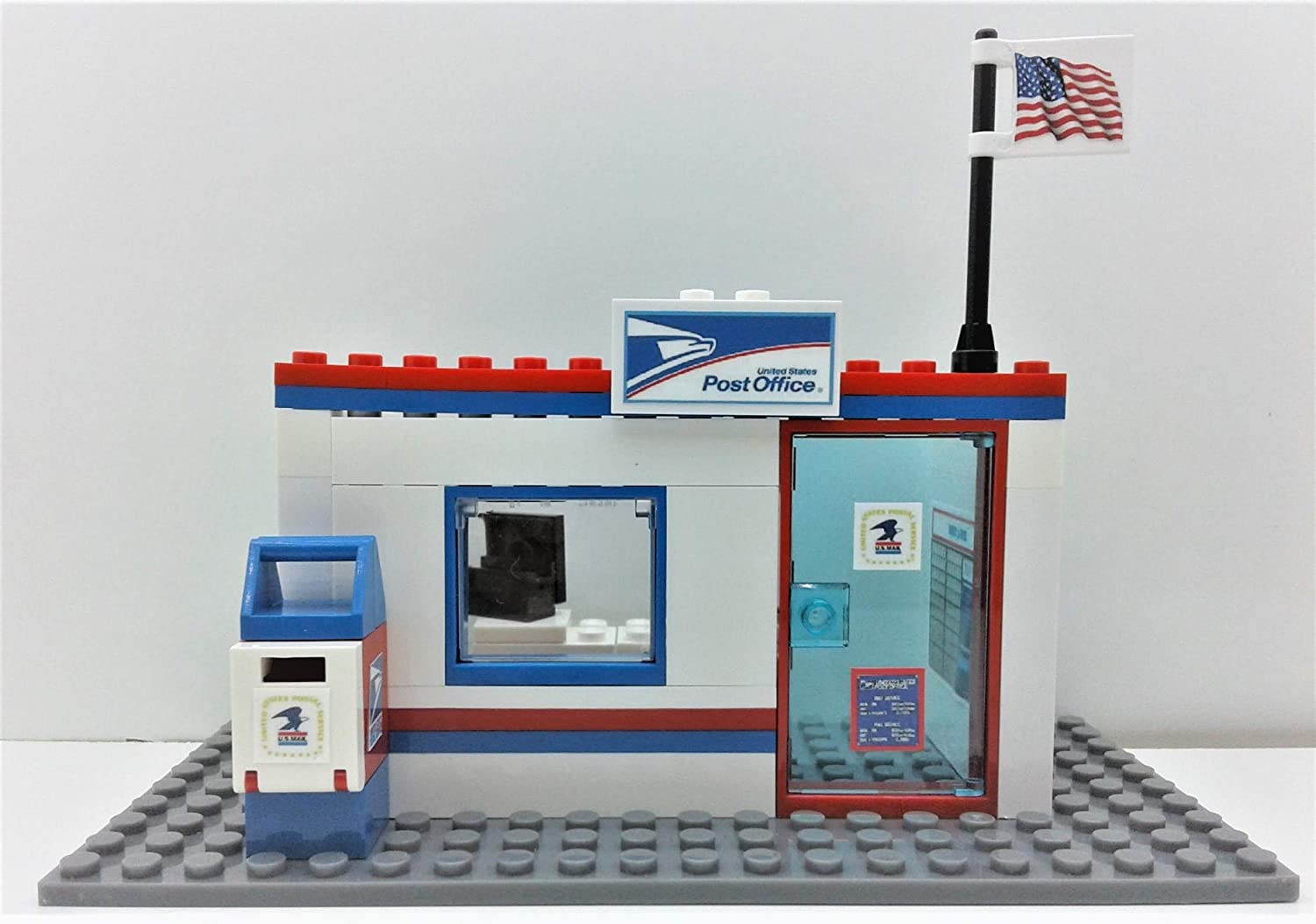 Building Bricks Toys Custom City USPS Postal Service Post Office. Ready to Play!