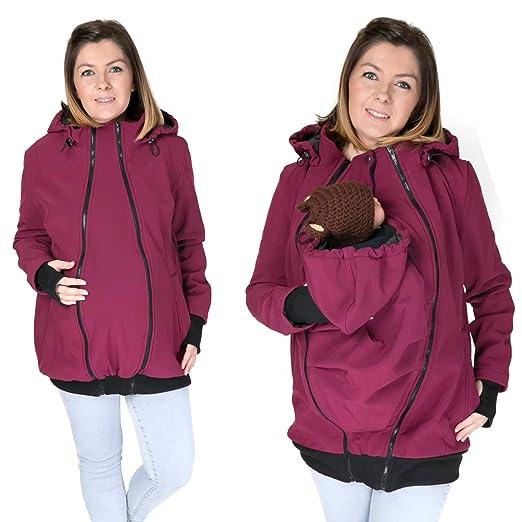 94979fee0 FUN2BEMUM 3in1 Softshell Babywearing jacket maternity coat PLUM NP16 ...