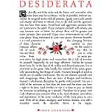 Wee Blue Coo Quote Desiderata Floral Ehrmann Typography Inspiration Art Print Poster Wall Decor 12X16 Inch