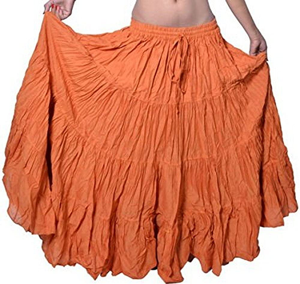 Plain 25 yarda yardas Tribal Belly Dancing Gypsy algodón falda de ...