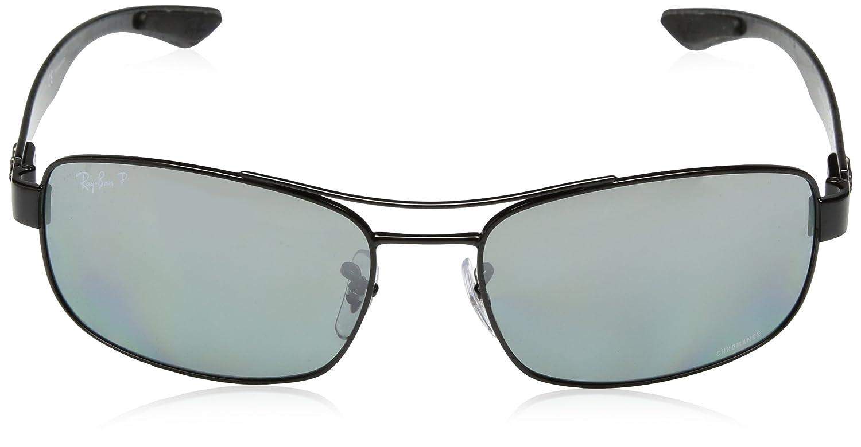 55e8d84ddf7 Amazon.com  Ray-Ban Men s RB8318CH Chromance Lens Rectangular Metal  Sunglasses